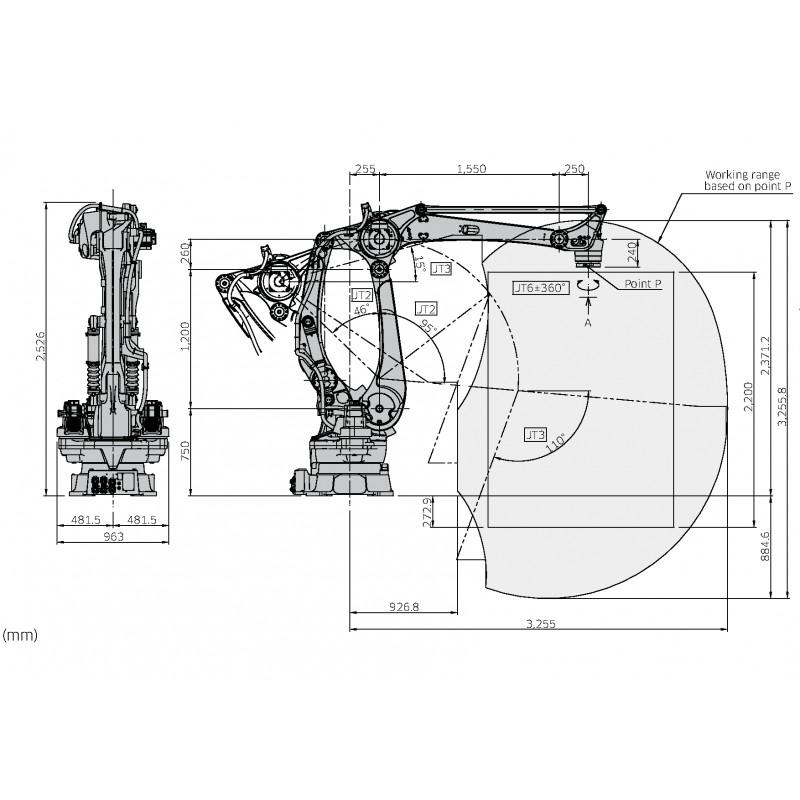 Kawasaki Palletising Robot CP180LEE03