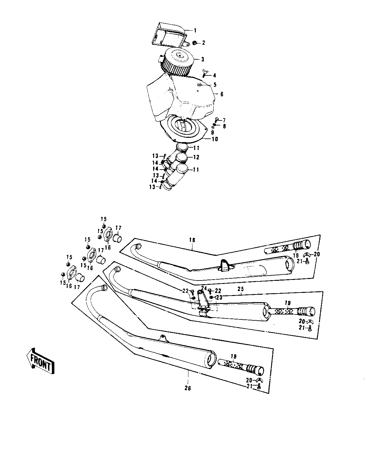 Kawasaki Triples Parts Database