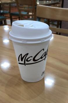 今回は昼間に!マックの無料コーヒー