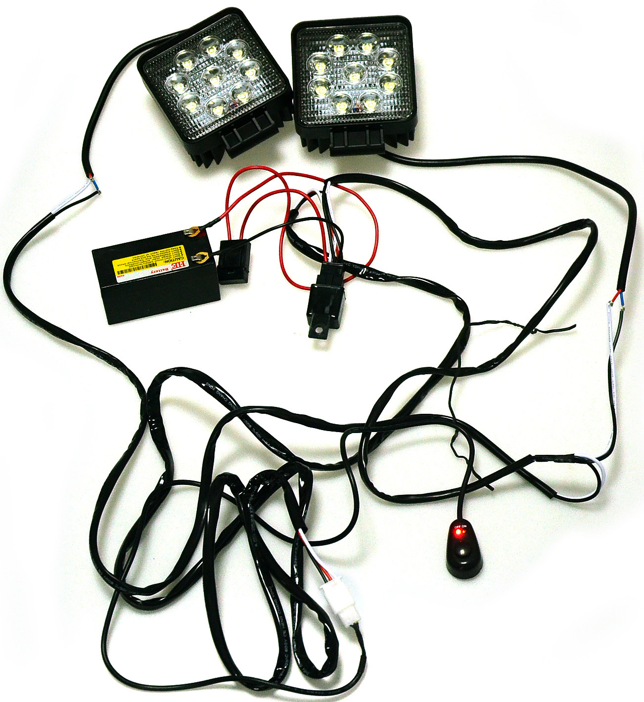 Kawell® 2 leg wiring harness include switch kit support 120w led light wiring harness and