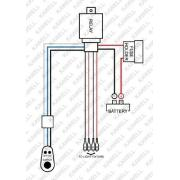 Kawell® 2 Leg Wiring Harness Include Switch Kit Suppot
