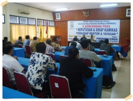 "Rapat Kerja KAWIKAS & KONFERENSI PERS ""Keputusan & Sikap KAWIKAS Terhadap Rektor & Yayasan"".  Minggu, 7 April 2013"