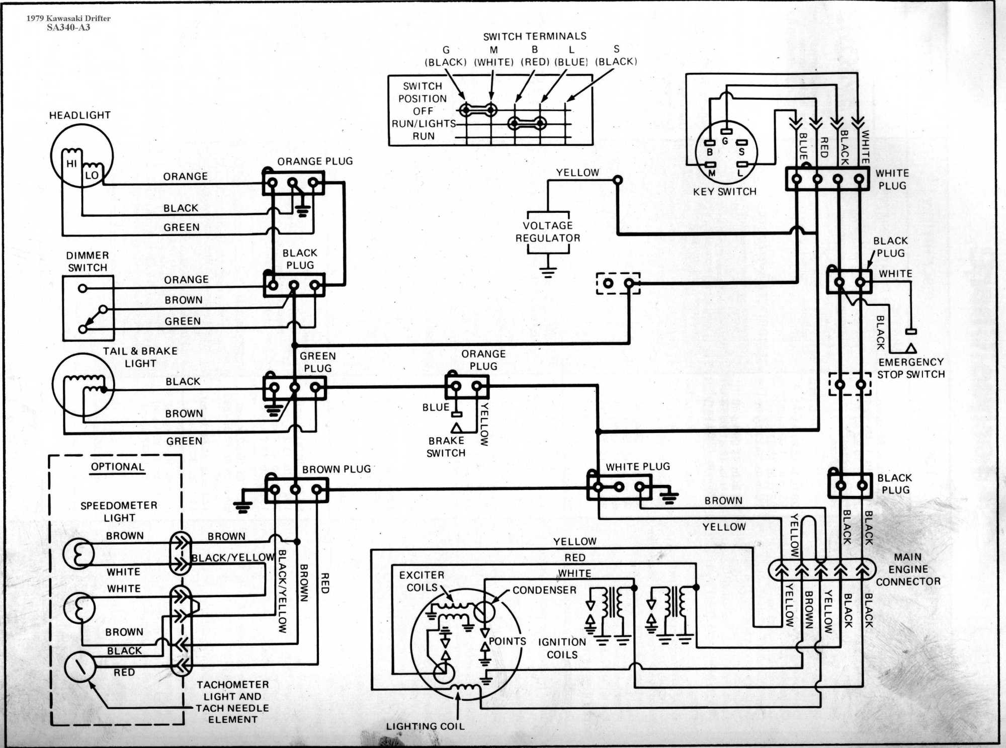 hight resolution of kawasaki drifter wiring diagrams1979 drifter 340 sa340 a3