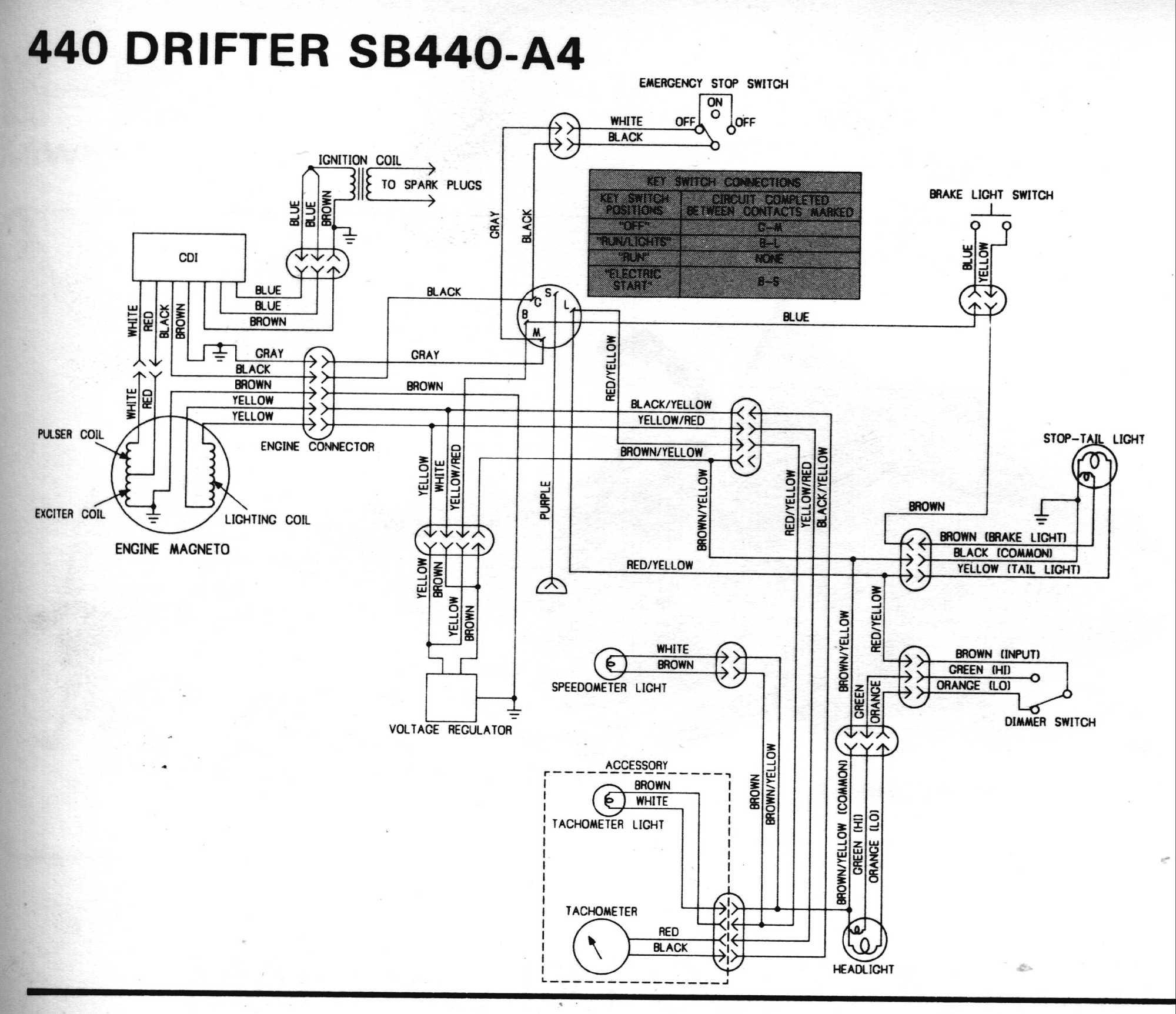 hight resolution of 1980 drifter 440 sb440 a4 kawasaki drifter wiring diagrams
