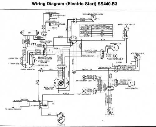 small resolution of kawasaki invader snowmobile wiring diagrams 1982 kawasaki 440 ltd wiring diagram 1980 invader ss340 440 a3