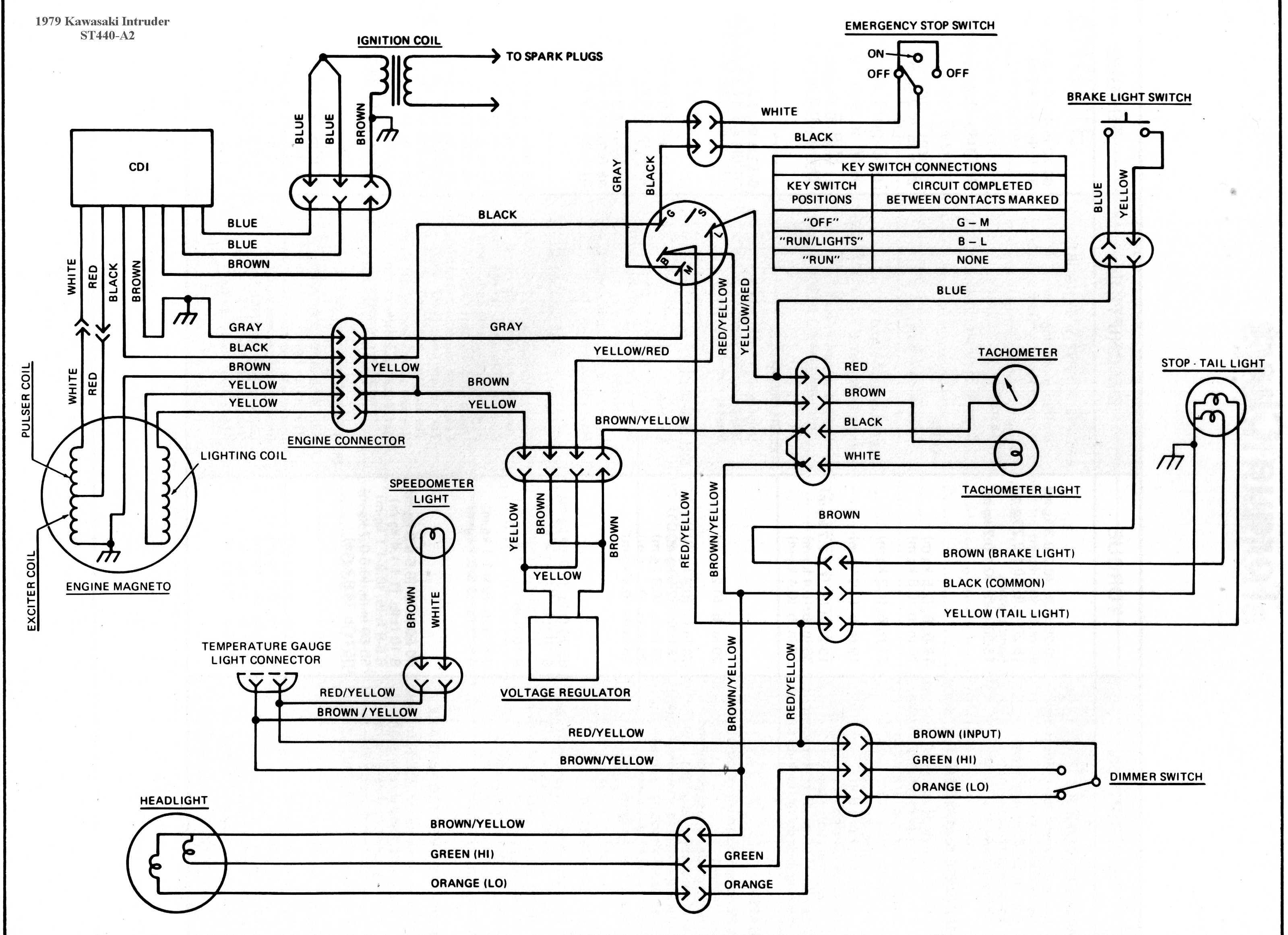 1987 kawasaki bayou 300 wiring diagram single phase motor with capacitor forward and reverse mule ignition