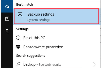 Backup Setting