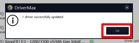 Driver successfully updated