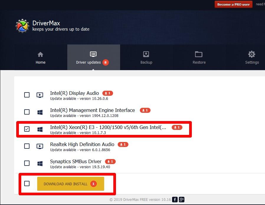 ড্রাইভার আপডেট : Download and Install