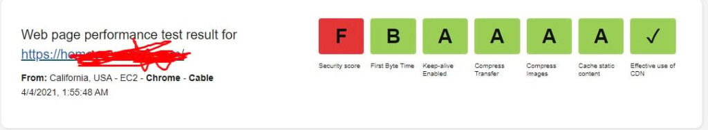 Security Score Check