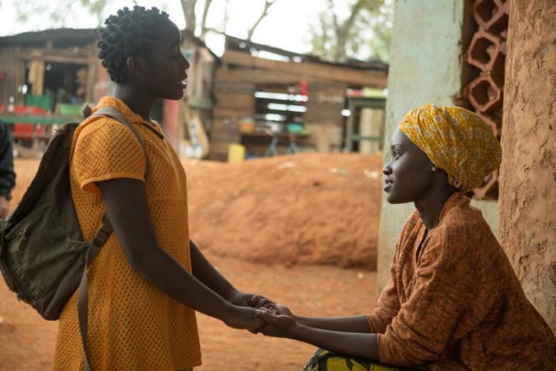 Lupita with Nalwanga in Queen of Katwe