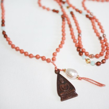 Copper Buddha Pendant necklace