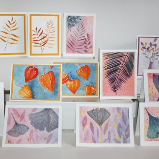 Watercolor Card Set of 12