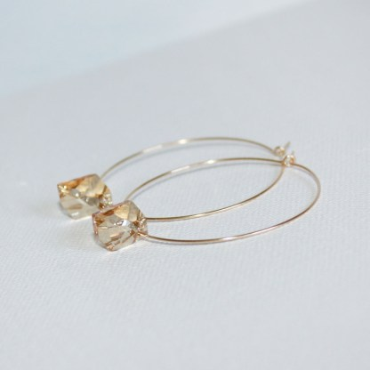 Large-Swarovski-Crystal-Golden-Shadow-Cosmic-Gold-Fill-Hoops-2