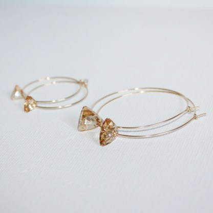 Large-Swarovski-Crystal-Golden-Shadow-Triangle-Gold-Fill-Hoops-3