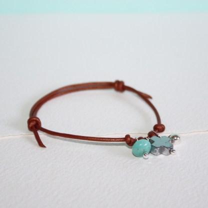 Small-Silver-Drop-Peruvian-Amazonite-Pyrite-Cross-Adjustable-Bronze-Leather-Bracelet-1