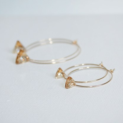 Small-Swarovski-Crystal-Golden-Shadow-Triangle-Gold-Fill-Hoops-2