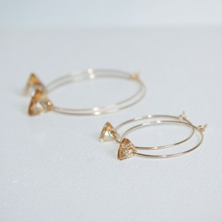Small-Swarovski-Crystal-Golden-Shadow-Triangle-Gold-Fill-Hoops-2