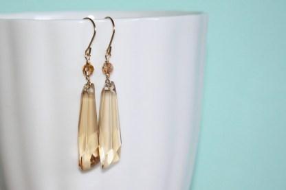 Swarovski-Crystal-Golden-Shadow-Crystalactite-Drop-Gold-Fill-Earrings