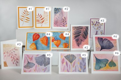 Watercolor Card Set Choices