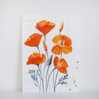 California—Poppies-Watercolor-Greeting-Card