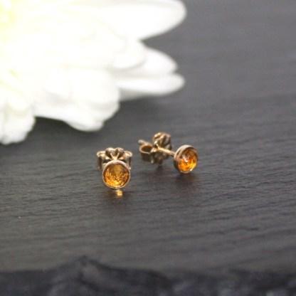 Golden-Citrine-Gold-Fill-Stud-Earrings