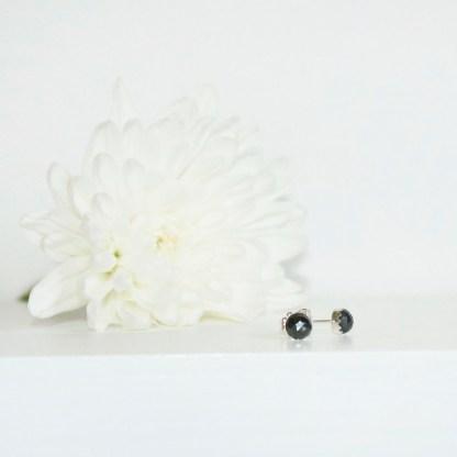 Silver-Pyrite-Sterling-Silver-Stud-Earrings