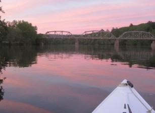 Ct River, Sfld bridge sunset