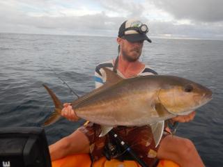 amberjack, ocean kayak, fishing, fish, wildlife, costa rica, mal pais, santa teresa