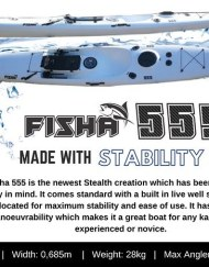 Stealth Fisha 555 Kayak