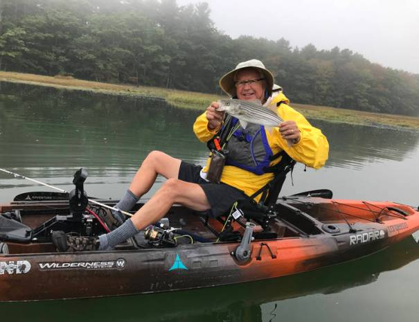 The Wilderness Systems Radar 135 pedal drive kayaks allow you to fish more and keep a fishing pole in your hand, not a kayak paddle.
