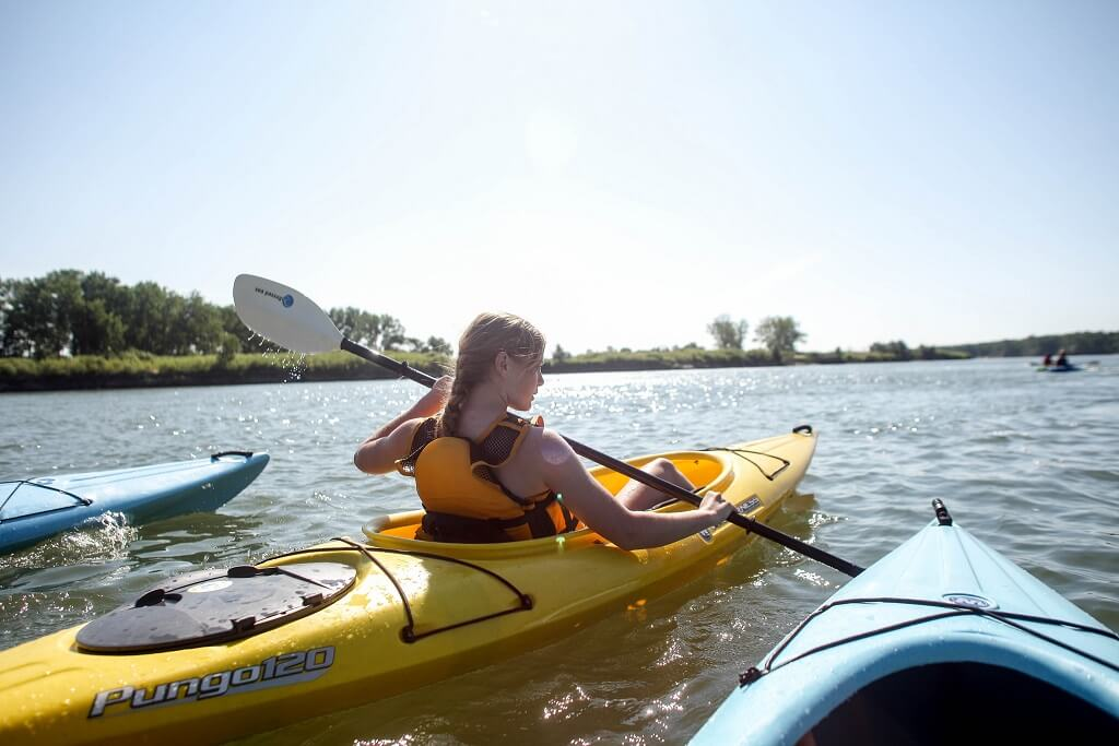 Kayaking Down The Missouri River
