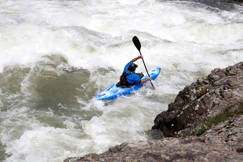 Crossover Kayak in Rapids