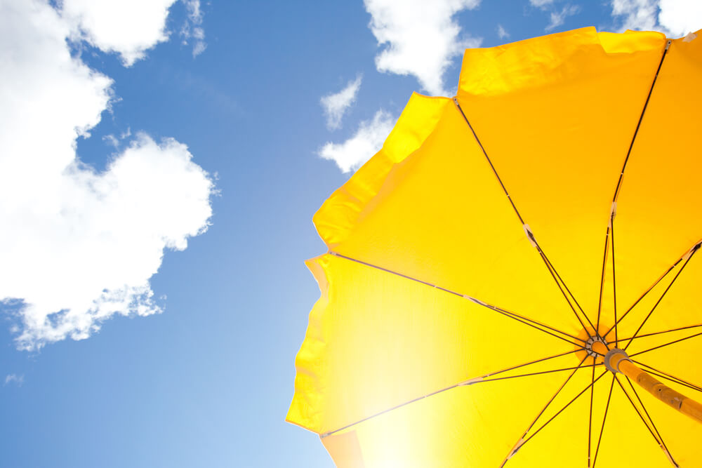 Shade from sun - Sun protection tips for water sports
