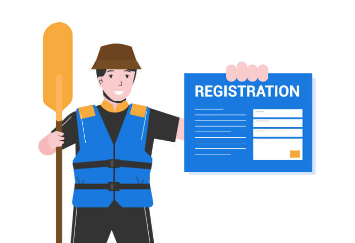 Register A Kayak - boating registration rules