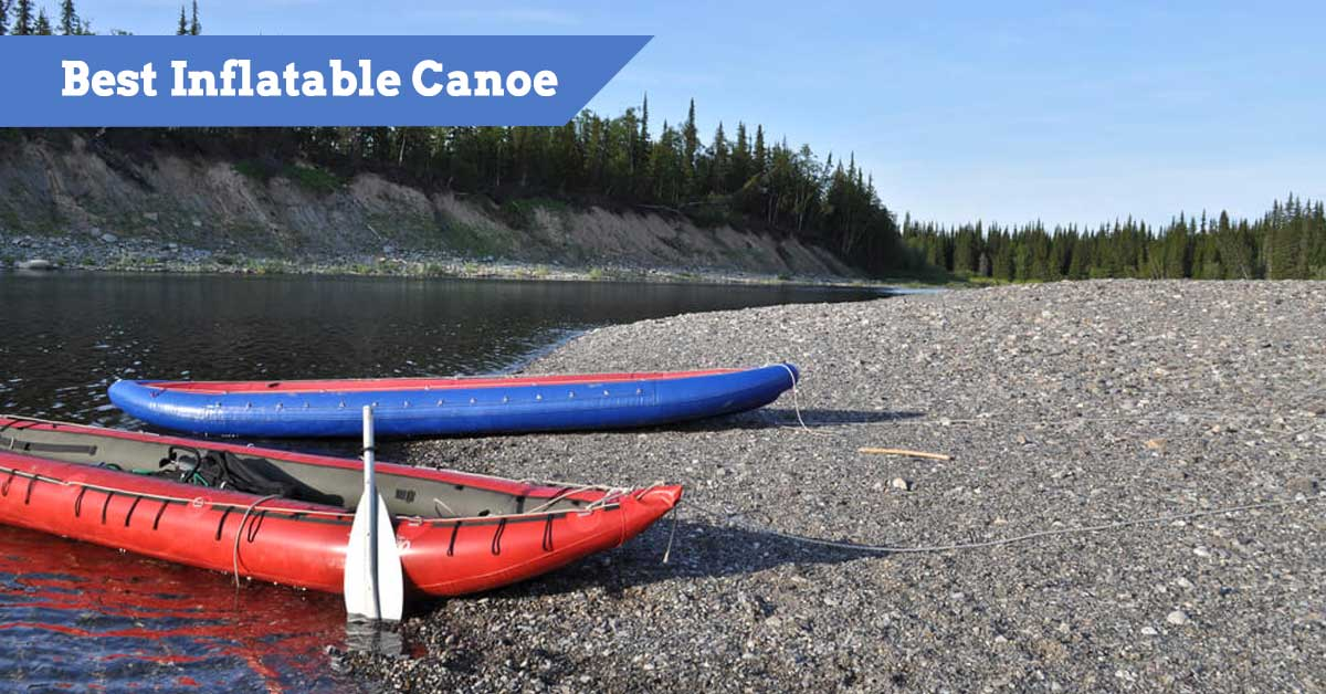 Inflatable Canoes on land