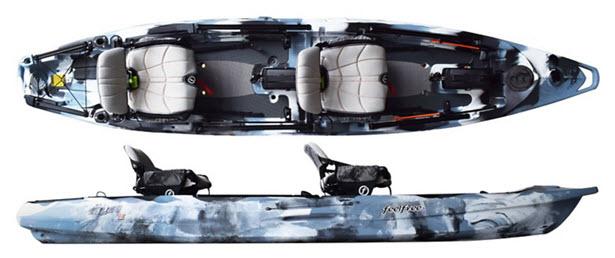 Feelfree Lure II Tandem Kayak Overhead shot