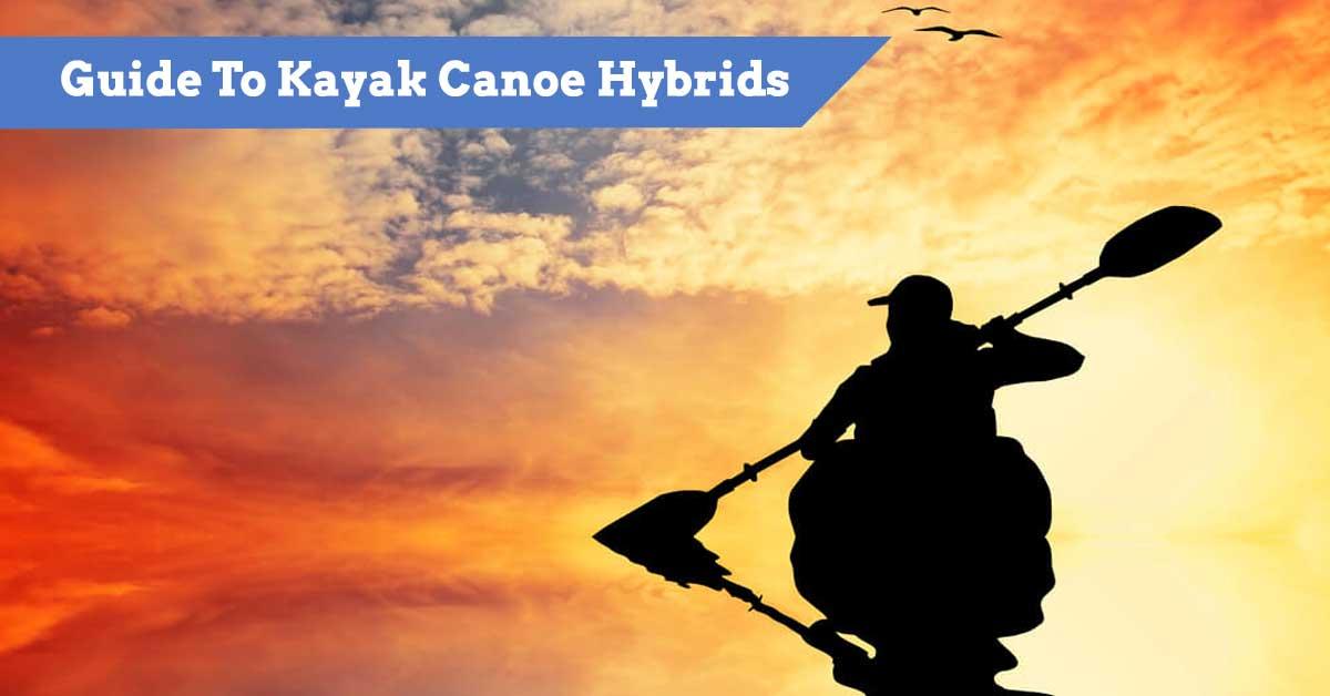 Paddler on a kayak canoe hybrid