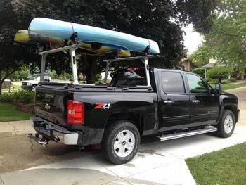 pickup truck and kayak