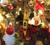 kayak Christmas tree ornament