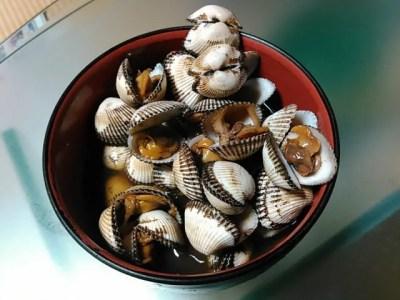 赤貝(サルボウ貝)の煮付け