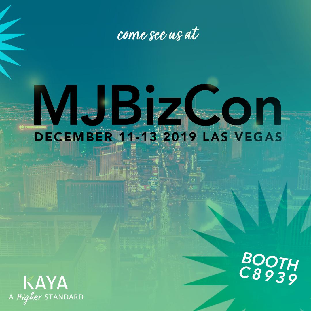 Come see Kaya Cannabis Packaging at Las Vegas MJ Bizcon, Cannabis Packaging Convention