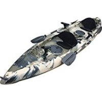 BKC UH-TK181 12.5 foot Sit On Top Tandem Fishing Kayak