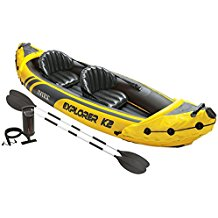 Intex Explorer K2 Kayak, 2, Person Inflatable Kayak Set