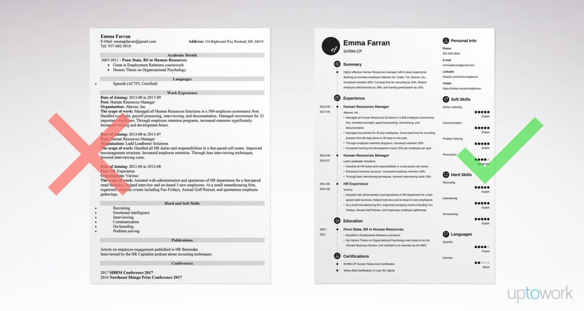 best way to build a resume template