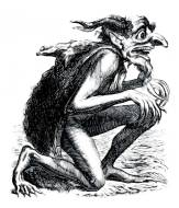 EURYNOME - superior demon and prince of death. He wears a fox skin to cover the sores on his body, and he has huge teeth. Said to feed on carrion and dead bodies.