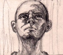 Portrait Sketch - Man looking up