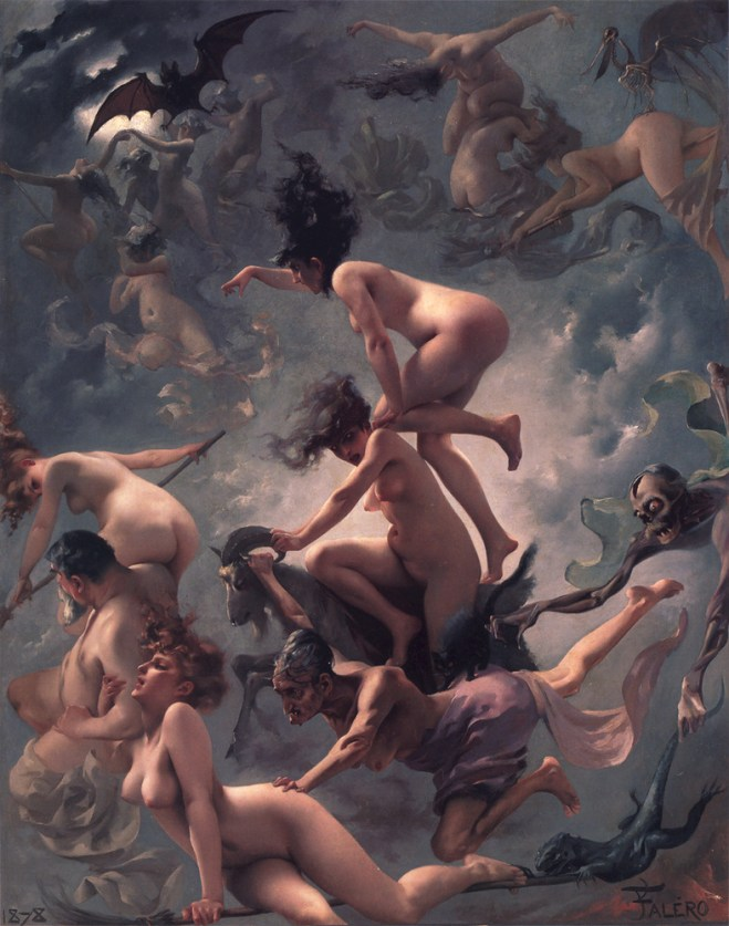 """Painting - """"Witches on the Sabbath"""" by Luis Ricardo Falero (1878)"""