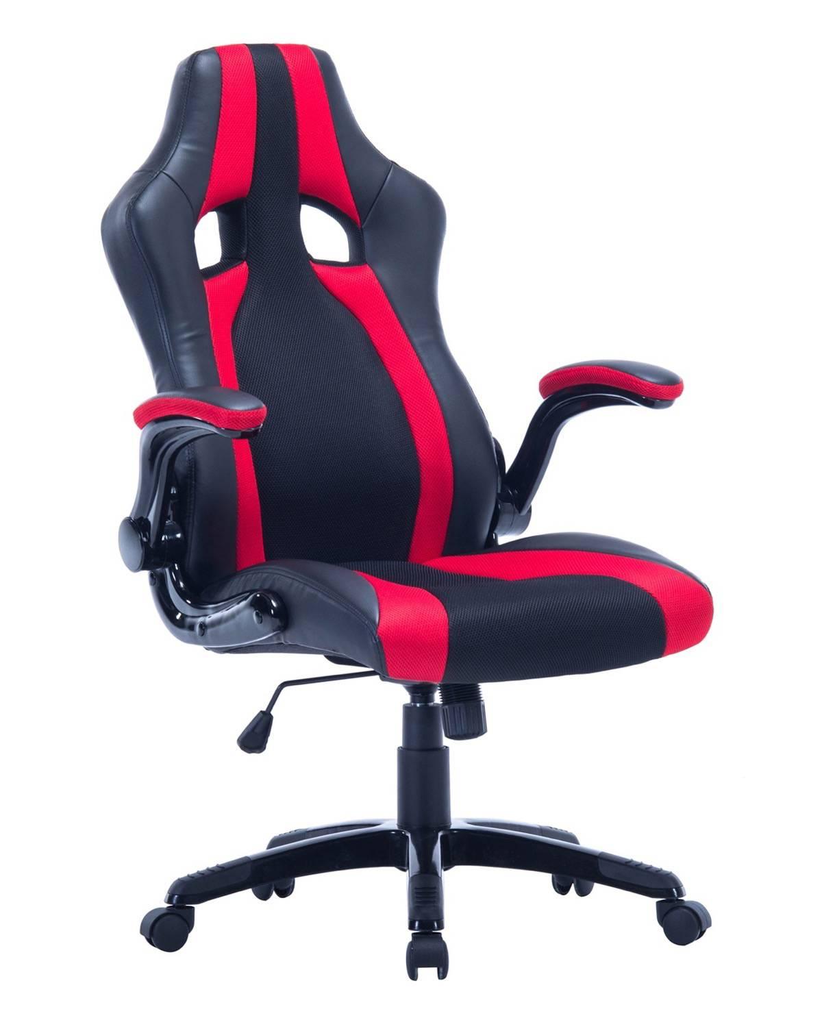 chaise bureau sport fauteuil racing siege baquet rouge