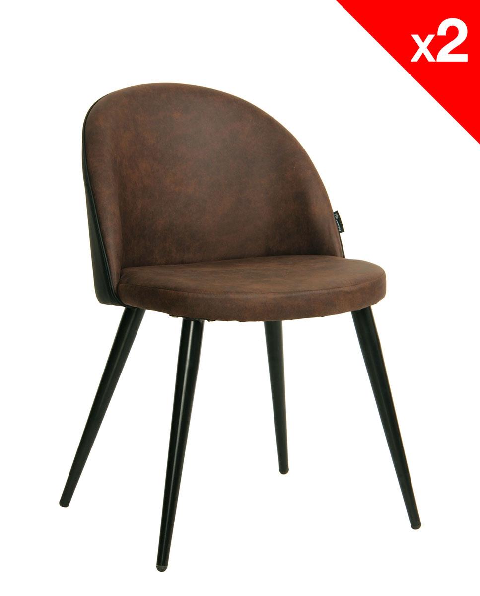 giza chaise vintage metal et microfibre